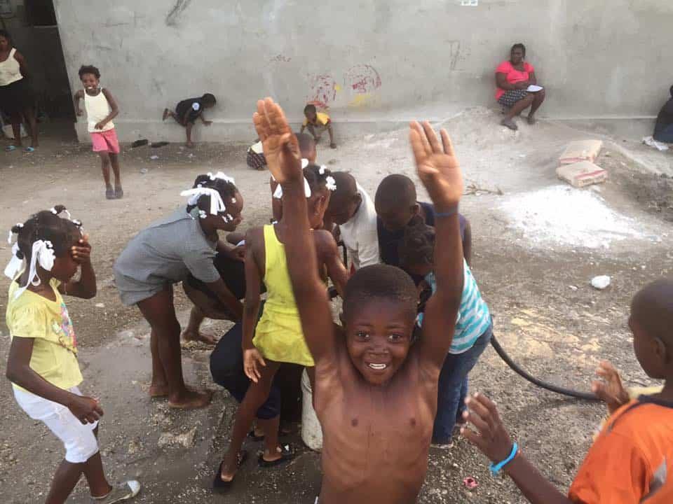 Haitian Boy Happy